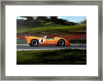 Bruce Mclaren Framed Print by Steve Jones