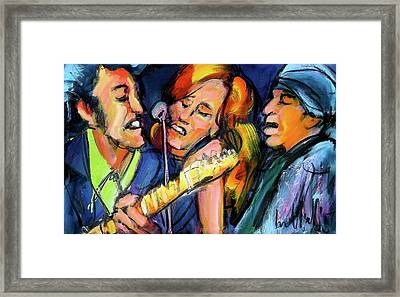 Bruce Patty And Stevie Framed Print