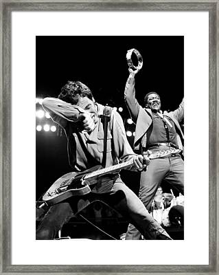 Bruce Springsteen 1981 Framed Print by Chris Walter
