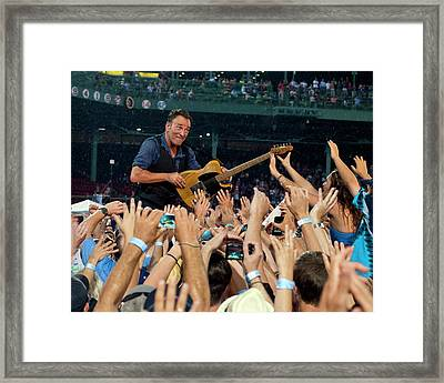 Bruce Springsteen At Fenway Park Framed Print