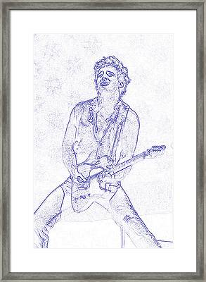 Bruce Springsteen Born In The Usa Framed Print by Lulu Escudero