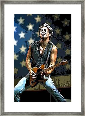 Bruce Springsteen Born To Run Framed Print by Lulu Escudero