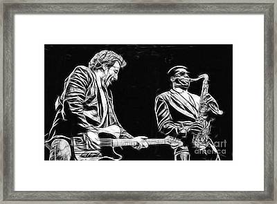 Bruce Springsteen Clarence Clemons Collection Framed Print