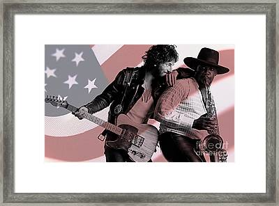 Bruce Springsteen Clarence Clemons Framed Print