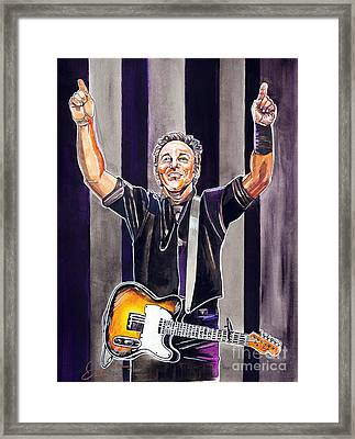 Bruce Springsteen Framed Print by Dave Olsen