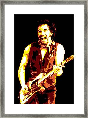 Bruce Springsteen Framed Print by DB Artist