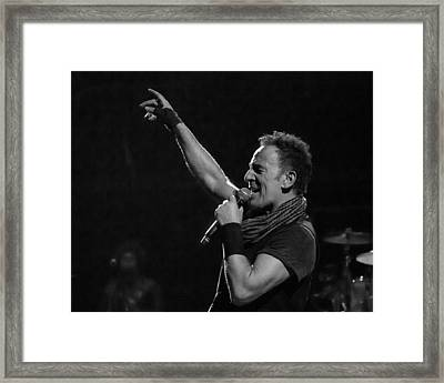 Framed Print featuring the photograph Bruce Springsteen In Cleveland by Jeff Ross
