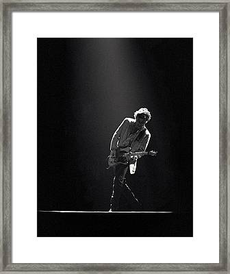 Bruce Springsteen In The Spotlight Framed Print