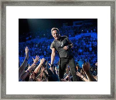 Framed Print featuring the photograph Bruce Springsteen La Sports Arena by Jeff Ross