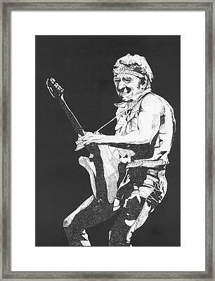 Bruce Springsteen Framed Print by Michelle Gilmore