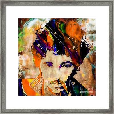 Bruce Springsteen Painting Framed Print