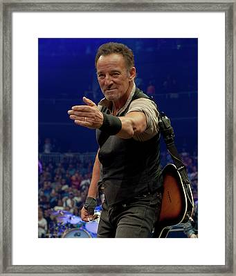 Bruce Springsteen. Pittsburgh, Sept 11, 2016 Framed Print