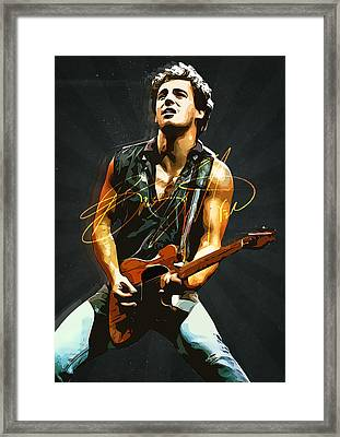 Bruce Springsteen Framed Print by Semih Yurdabak