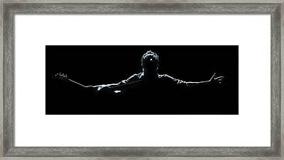 Bruce Springsteen - Spirits Framed Print by Steve Ziegelmeyer