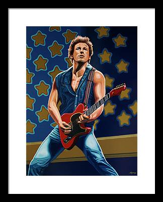 Rocks Bruce Springsteen Framed Prints