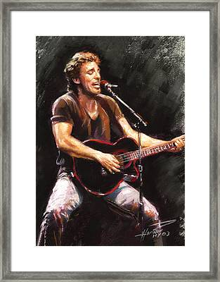 Bruce Springsteen  Framed Print by Ylli Haruni