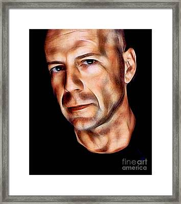 Bruce Willis Collection Framed Print