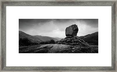 Bruce's Stone Framed Print by Dave Bowman