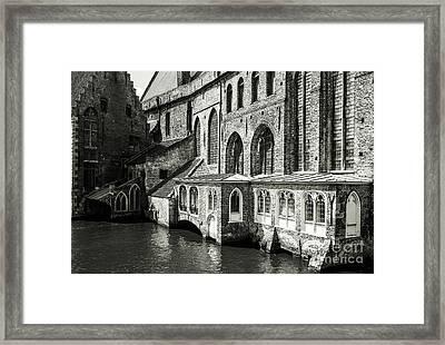 Bruges Medieval Architecture Framed Print