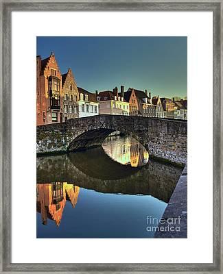 Bruges Twighlight Framed Print