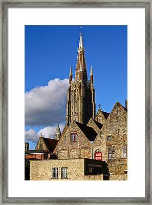 Brugge Architecture Framed Print by Chandra Nukala