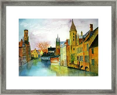 Brugge Belgium Canal Framed Print