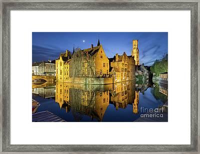 Brugge Twilight Framed Print by JR Photography