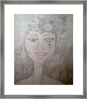 Bruised Beautifully Framed Print by Decreasa Williams
