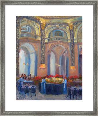 Brunch At The Museum Framed Print by Bunny Oliver