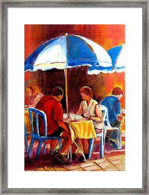 Brunch At The Ritz Framed Print by Carole Spandau