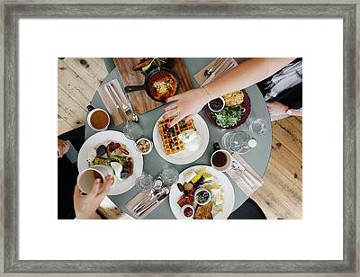 Brunch Framed Print by Happy Home Artistry