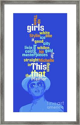 Bruno Mars, Order The Words. Do You Know This Song? Framed Print by Pablo Franchi