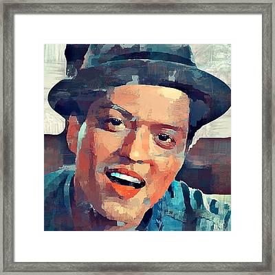 Bruno Mars Portrait Framed Print