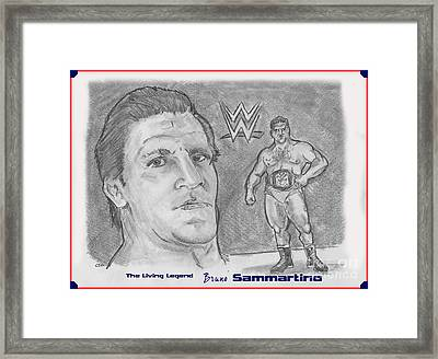 Bruno Sammartino The Living Legend Framed Print by Chris  DelVecchio