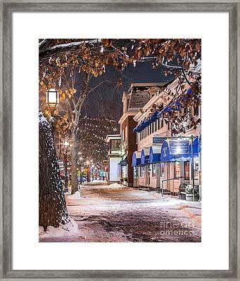 Brunswick Maine Street Scene Framed Print