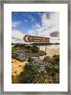 Bruny Island Landmarks Framed Print