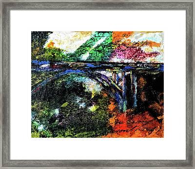 Brush Creek Bridge Framed Print by Lisa McKinney