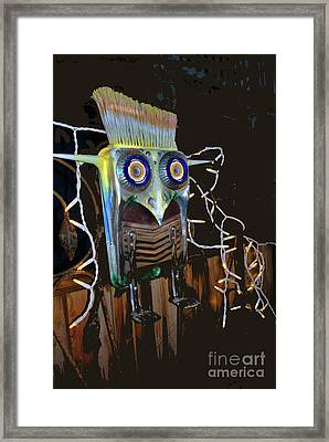 Framed Print featuring the photograph Brush Cut Bird by Bill Thomson