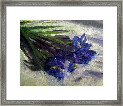 Brush Flowers #1 Framed Print by Brian Kardell