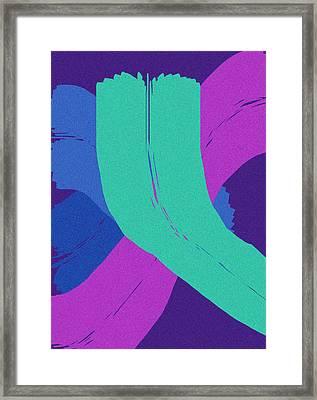 Brush Of Color Framed Print