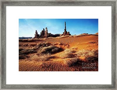 Brush On Dunes Framed Print