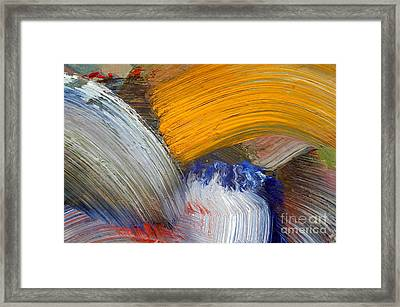 Brush Strokes Framed Print by Michal Boubin