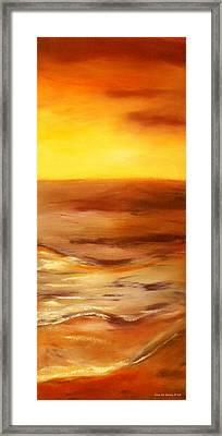 Brushed 5 - Vertical Sunset Framed Print by Gina De Gorna