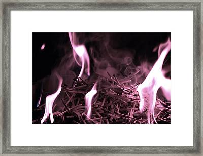 Brushfire 2 Framed Print
