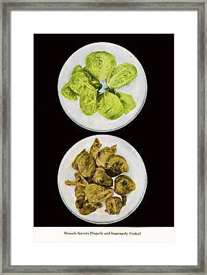 Brussel Sprouts Right And Wrong Framed Print by John Scariano