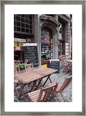 Brussels - Restaurant Chez Patrick Framed Print by Carol Groenen