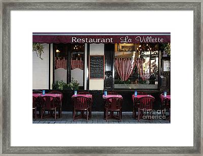Brussels - Restaurant La Villette Framed Print