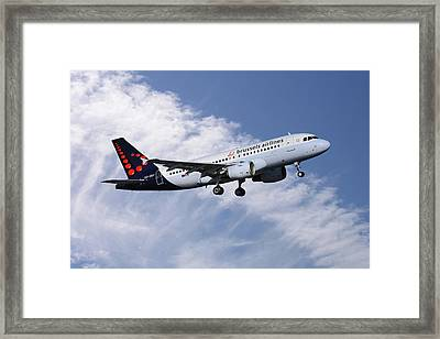 Brussels Airlines Airbus A319-111 Framed Print