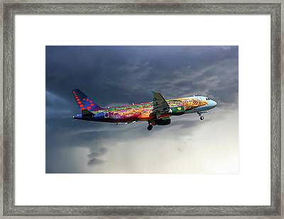 Brussels Airlines Airbus A320-214 Framed Print