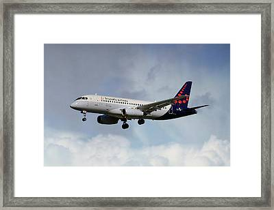 Brussels Airlines Sukhoi Superjet 100-95b Framed Print